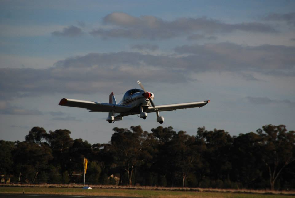 AAA Robin 2160i flight training aircraft take-off
