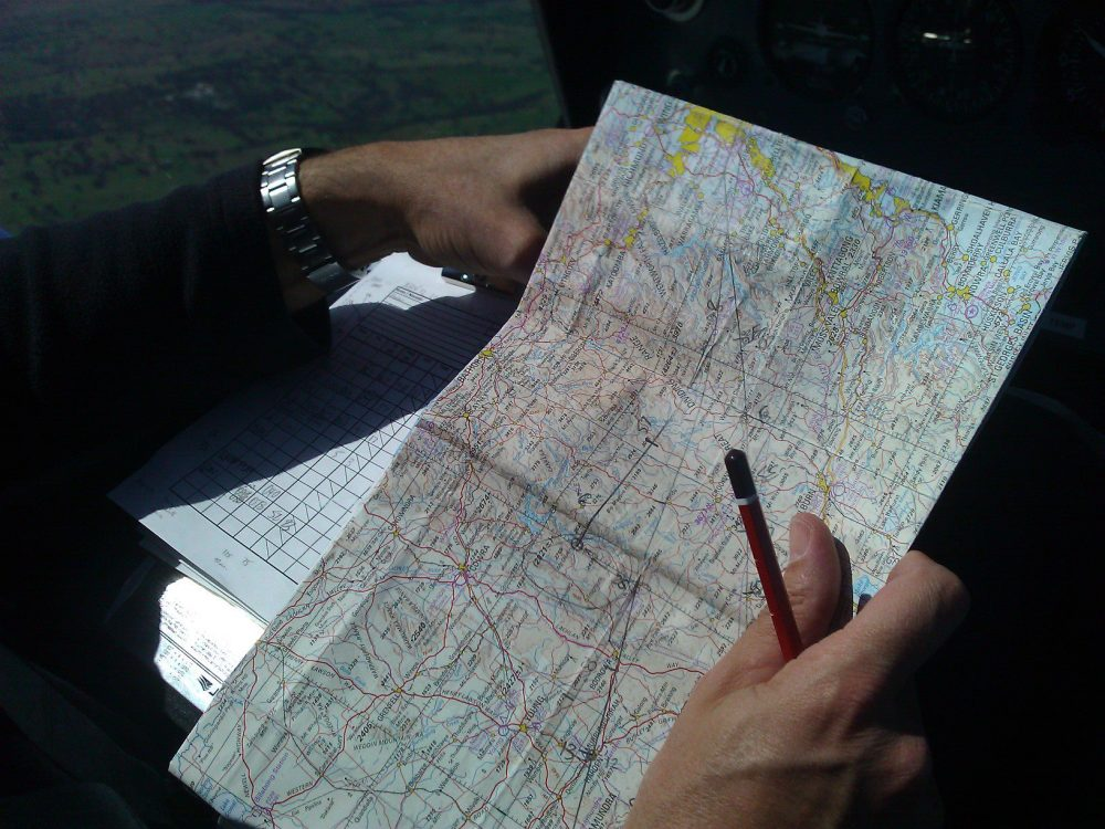 AAA PPL flight training - map reading