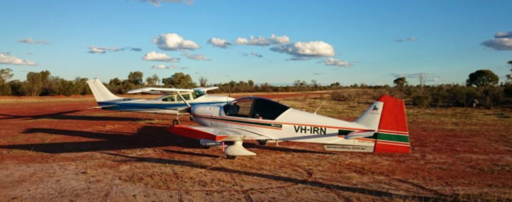 AAA PPL flight training aircraft away in Australian outback