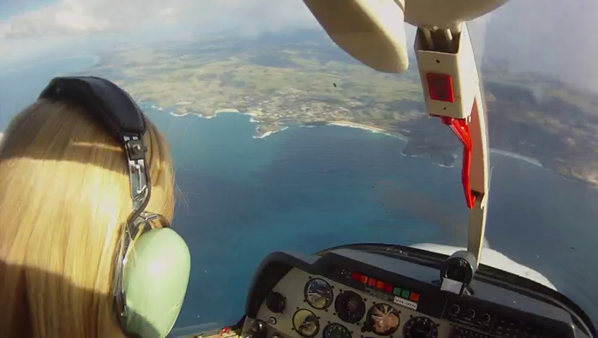 Aerobatics over Sydney northern beaches