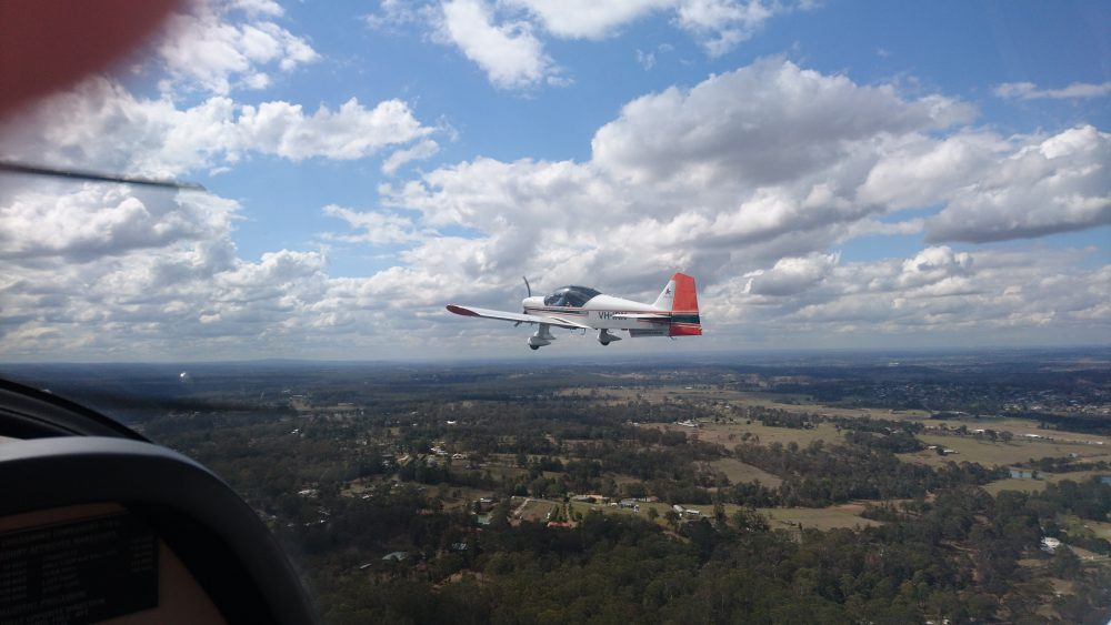 AAA Robin 2160i flight training aircraft in formation