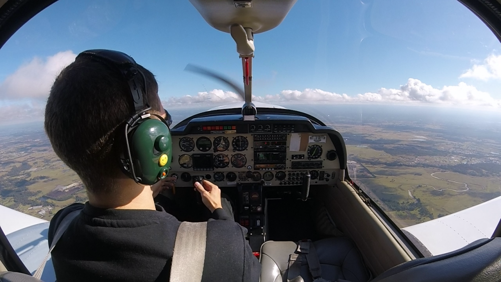 Solo flight training in the Sydney training area