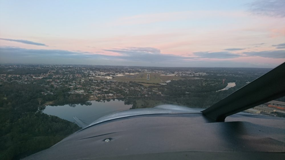Dusk approach to landing - Sydney Harbour luxury twilight flight