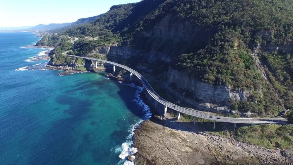 Sea Cliff Bridge as seen from Sydney & Surrounds Luxury Scenic Flight